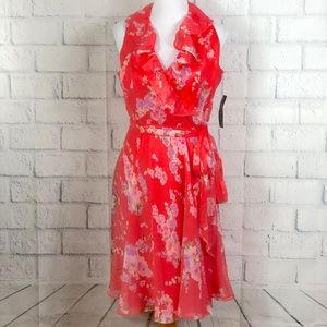 🆕 Ralph Lauren Floral Print Wrap Dress